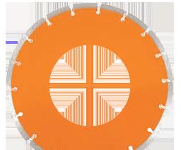 orange saw blade icon