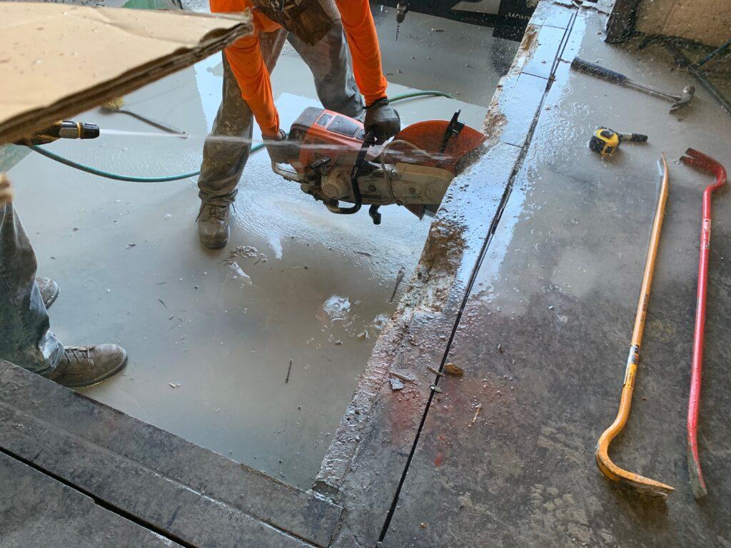 difficult concrete demo