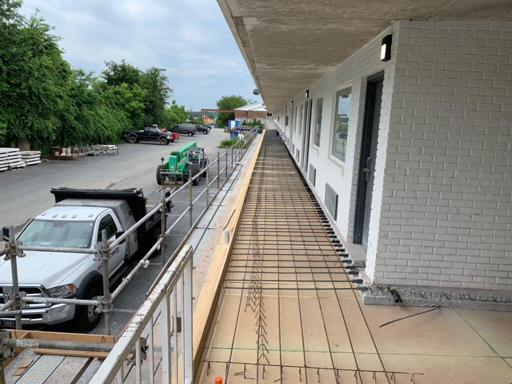 repair of elevated balcony slab